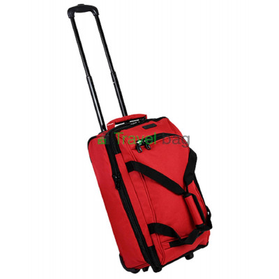 Сумка дорожная на колесах MEMEBERS Expandable Wheelbag малая 33/42 красная