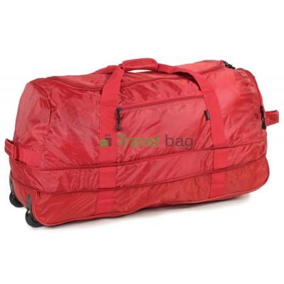 Сумка дорожная на колесах MEMEBERS Foldaway Wheelbag большая 105/123 красная