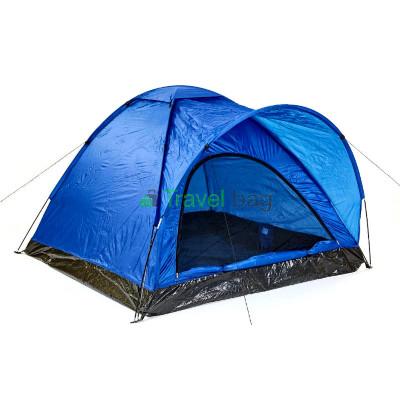 Палатка трехместная GEMIN 1,8х2,0м синяя T102403