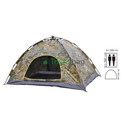 Палатка трехместная 2.00 х 1,50 м камуфляж самораскладывающаяся T1SYA01