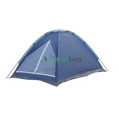 Палатка трехместная WEEKEND 1.80 х 2,00 м синяя T1SY010