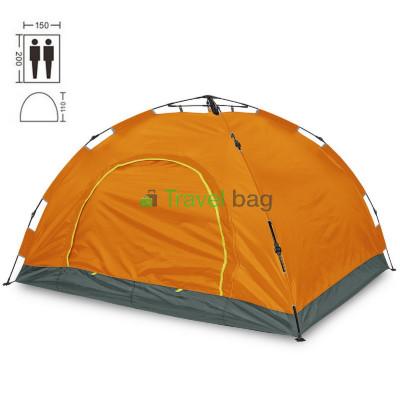 Палатка двухместная 2.00 х 1,50 м оранжевая самораскладывающаяся TSYA021