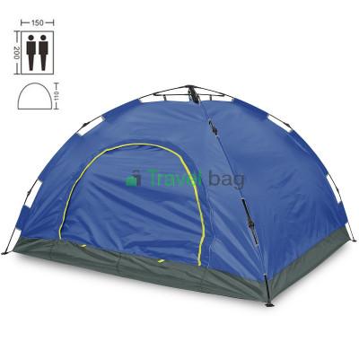 Палатка двухместная 2.00 х 1,50 м синяя самораскладывающаяся TSYA021