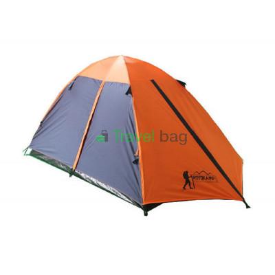 Палатка трехместная TOURIST 2.00 х 1,80 м оранжевая с тентом и коридором CT17103
