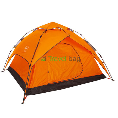 Палатка четырехместная 2.20 х 2,30 м оранжевая самораскладывающаяся TSYA621