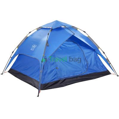 Палатка четырехместная 2.20 х 2,30 м синяя самораскладывающаяся TSYA622