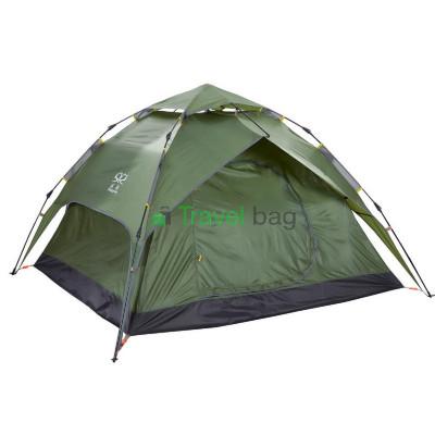 Палатка четырехместная 2.20 х 2,30 м зеленая самораскладывающаяся TSYA623