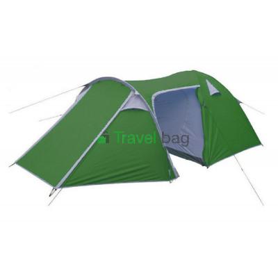 Палатка четырехместная VENICE 1.2+0,9+2,4 х 2,1 м зеленая с тентом и тамбуром TSY0904