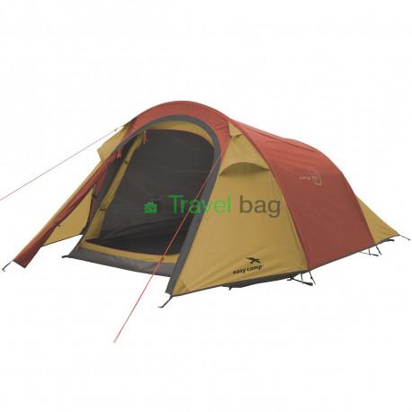 Палатка трехместная Easy Camp Energy 300 золотисто-бордовая