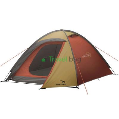Палатка трехместная Easy Camp Meteor 300 золотисто-бордовая