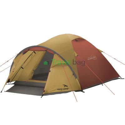 Палатка трехместная Easy Camp Quasar 300 золотисто-бордовая