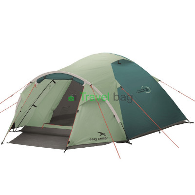 Палатка трехместная Easy Camp Quasar 300 зеленая