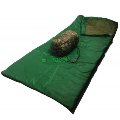 Спальный мешок одеяло light зеленый 220г/м2, 180х75см, t от +5 до +25