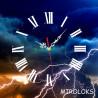 Настенные часы MIROLOKS Молния на холсте 35х35 см M00002