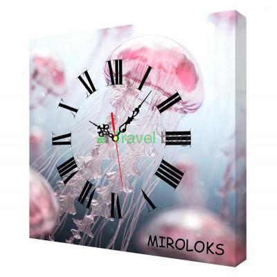 Настенные часы MIROLOKS Медуза 35х35 см M00005