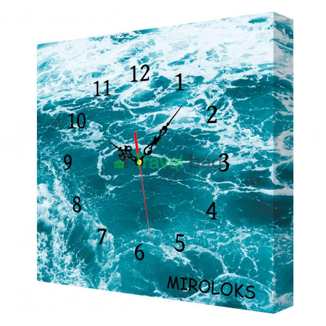 Настенные часы MIROLOKS Океан на холсте 35х35 см M00002