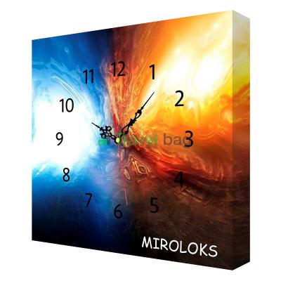 Настенные часы MIROLOKS Космос на холсте 35х35 см M00002