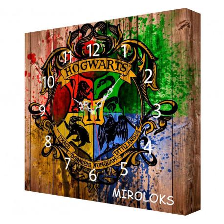 Настенные часы MIROLOKS Hogwats на холсте 35х35 см M00002