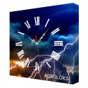 Настенные часы MIROLOKS Молния 35х35 см M00007