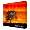 Настенные часы MIROLOKS Закат на холсте 35х35 см M00002