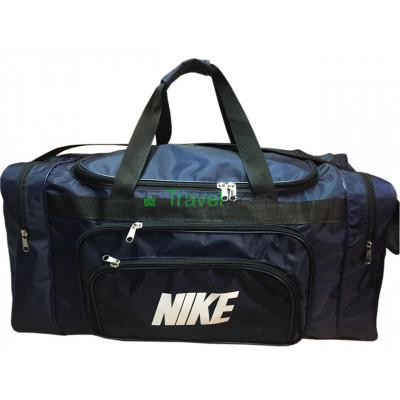 Сумка дорожная прямоугольная Nike большая 69 см темно-синяя
