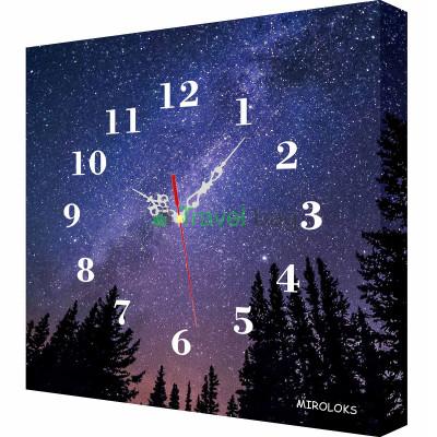Настенные часы MIROLOKS Галактика 35х35 см M00015