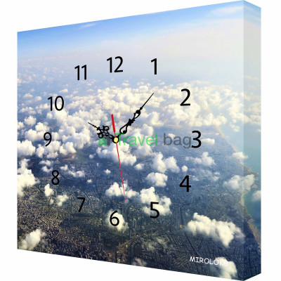 Настенные часы MIROLOKS Облака 35х35 см M00016