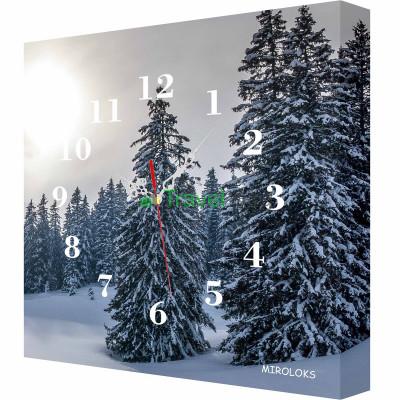 Настенные часы MIROLOKS Зима 35х35 см M00019