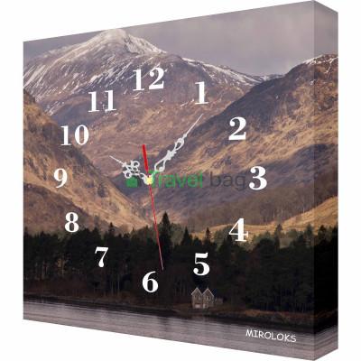 Настенные часы MIROLOKS Горы35х35 см M00021