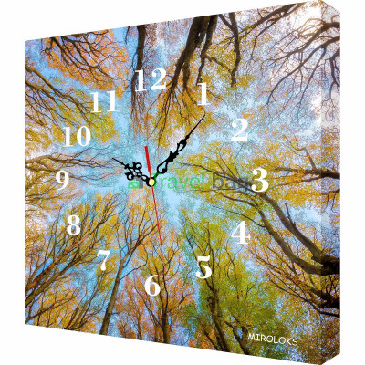 Настенные часы MIROLOKS Деревья 35х35 см M00026
