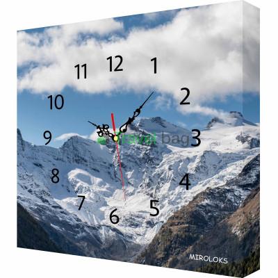 Настенные часы MIROLOKS Горы 35х35 см M00030