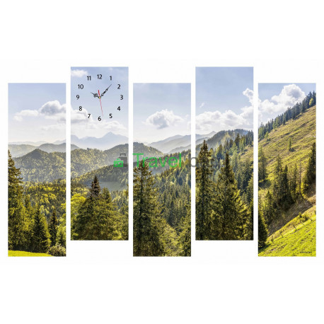 Настенные часы MIROLOKS Горы 5 в 1 M00042