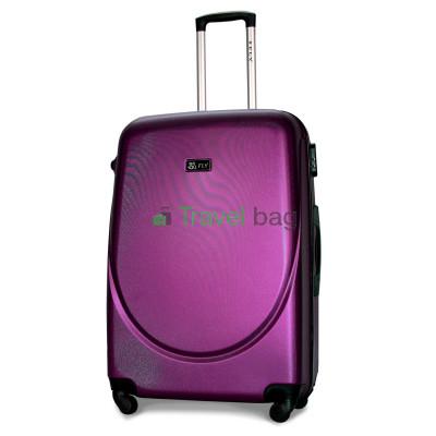 Чемодан пластиковый FLY 310 большой темно-фиолетовый 75 см