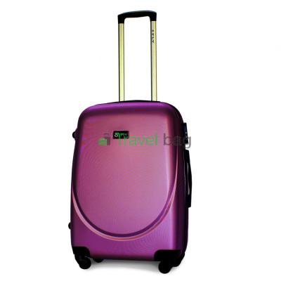 Чемодан пластиковый FLY 310 средний темно-фиолетовый 65 см