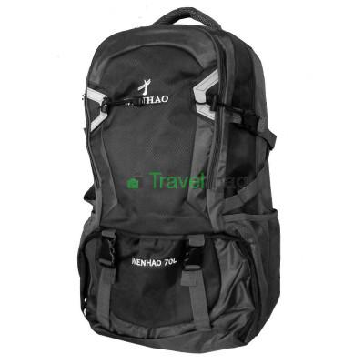 Рюкзак туристический Wenhao 70 л серо-черный