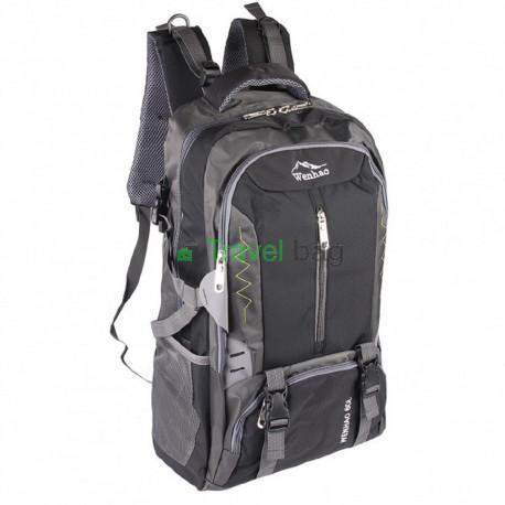 Рюкзак туристичний Wenhao 50 л черный R506083-BK
