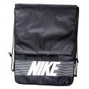 Рюкзак-мешок с карманом Nike на затяжках черный надпись