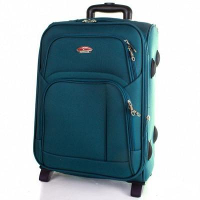 Чемодан Suitcase большой бирюзовый тканевый 70 см