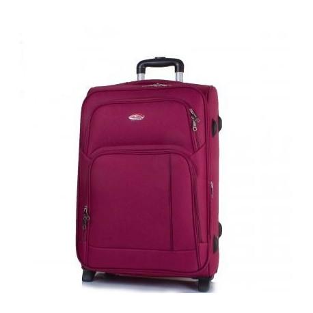 Чемодан Suitcase большой бордовый тканевый 70 см