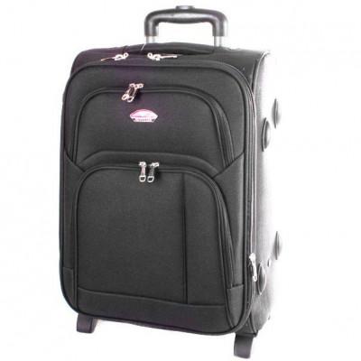 Чемодан Suitcase большой серый тканевый 70 см