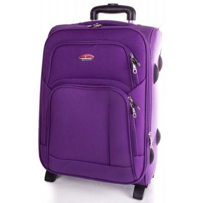 Чемодан Suitcase большой сиреневый тканевый 70 см