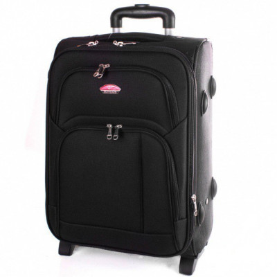 Чемодан Suitcase большой черный тканевый 70 см