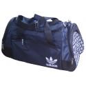 Сумка спортивная Adidas со скошенными карманами средняя темно-сине-черная 56 см