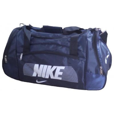 Сумка спортивная Nike со скошенными карманами средняя темно-синяя 56 см