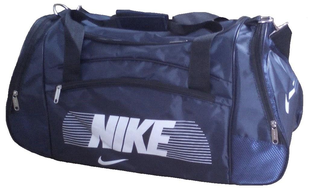 56005f91 Сумка спортивная Nike со скошенными карманами средняя темно-синяя 56 см -  Travel Bag
