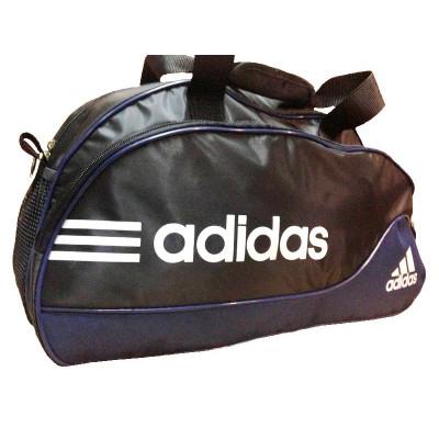 Сумка спортивная Adidas овальная средняя черно-синяя 52 см