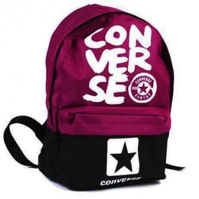 Рюкзак спортивный Converse (Конверс) черно-бордовый 40х30 см.
