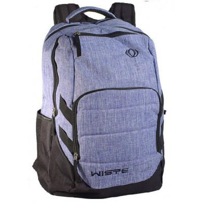 Рюкзак спортивный Wiste 45х30 черно-серо-сиреневый