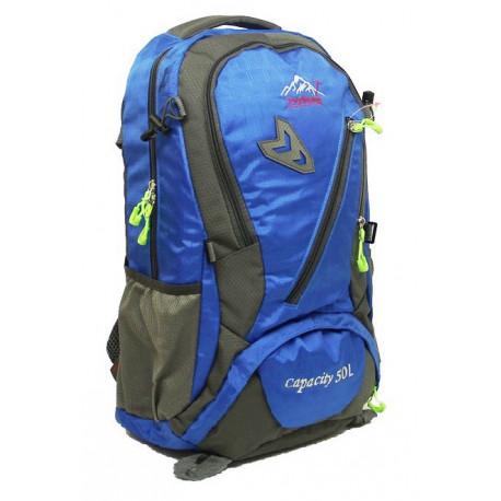 Рюкзак туристический 30 л TEYIHONG 52х32х17 серо-синий