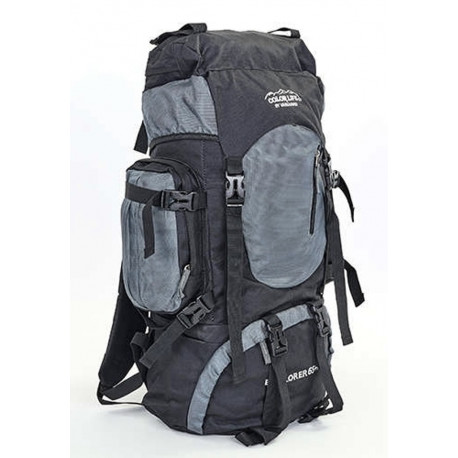 Рюкзак туристический каркасный COLOR LIFE 58(+20)х38х20 65(+10)л серый